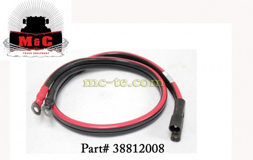 "Hiniker Plow, Battery Power Cable, 38""  38812008"