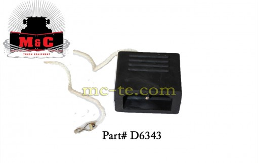 SnowEx Plug End Dust Cover Pro and V-Maxx Spreaders D6343