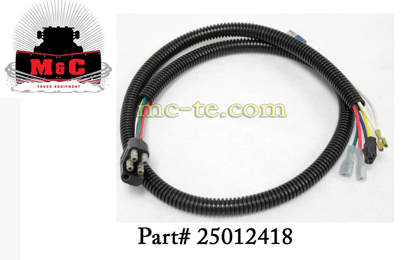 hiniker plow light pigtail wire harness 25012418 harnesses electrical snowplow parts
