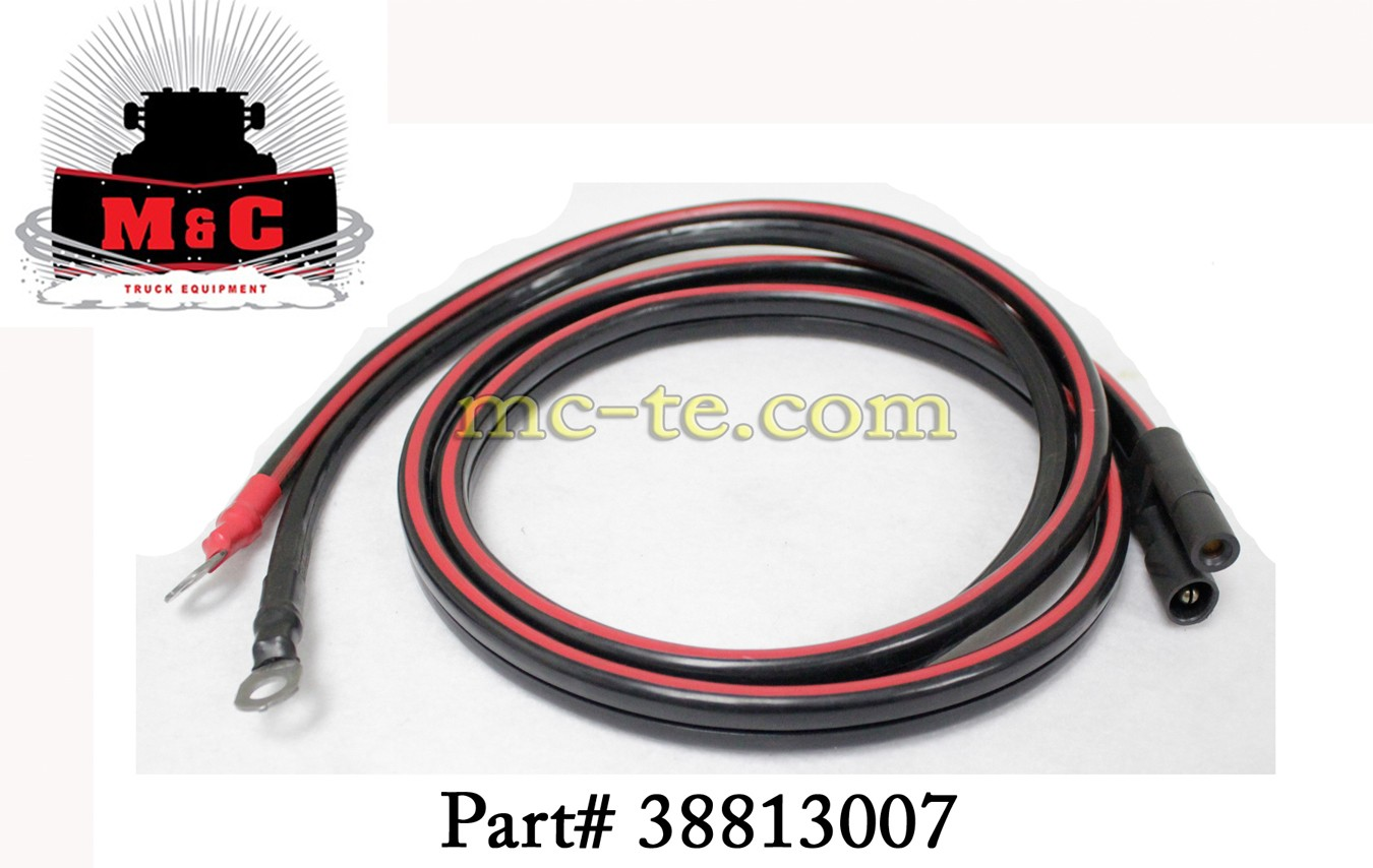 Parts Of Electrical Cables : Hiniker snowplow truck cable battery power