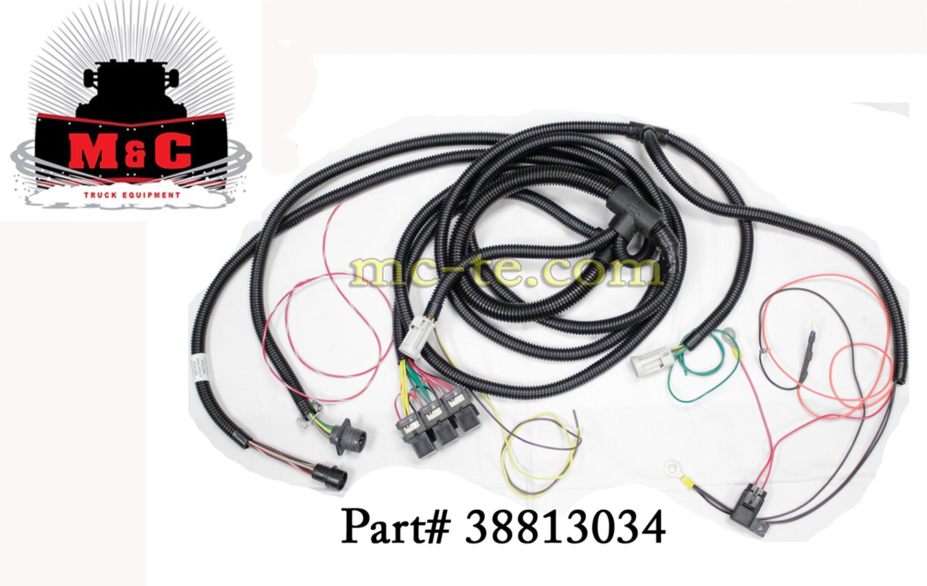 38813034_cat_6 hiniker snowplow 4 function underhood wire harness 38813034 underhood wiring harness 1973 ford truck at bakdesigns.co