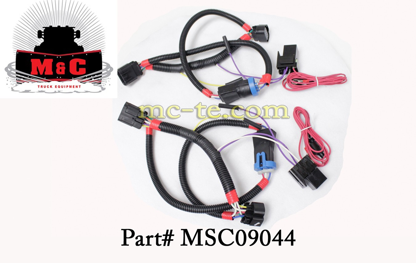 msc09044_cat_3 boss plow, light adapter,chevy 1500,14 ,13pin msc09044 boss 13 pin wiring harness at crackthecode.co