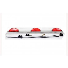 Truck-Lite Model 15 Stainless Steel ID Bar with Red Lamps 15741R