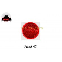 5 Pack / Truck-Lite Red Adhesive Reflector Lamp 45