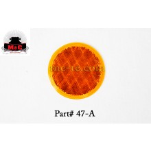5 Pack / Truck-Lite Yellow Round Stick-On Reflector Lamp 47A