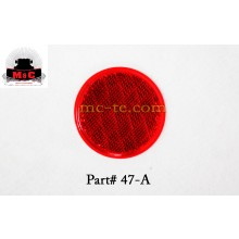 5 Pack / Truck-Lite Red Round Stick-On Reflector Lamp 47