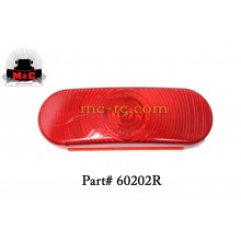 2 Pack / Truck-Lite Red Super 60 Oval Stop/Turn/Tail Lamp 60202R