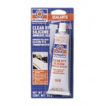 Permatex Clear RTV Silicone Adhesive Sealant - 3 oz. tube 80050