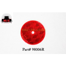 "5 Pack / Truck-Lite 3"" Red Round Reflector  98006R"