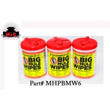 Mule Head Brand Big Mule Wipes - BOX OF 3 - MHPBMW6
