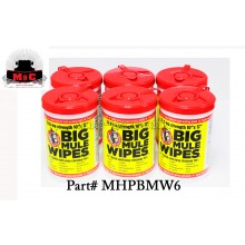 Mule Head Brand Big Mule Wipes - BOX OF 6 - MHPBMW6