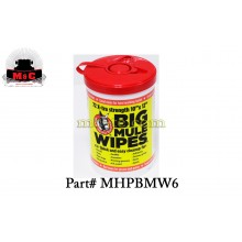 Mule Head Brand Big Mule Wipes MHPBMW6